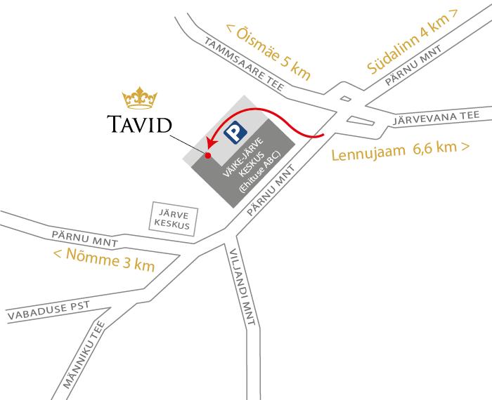 Väike-Järve keskuse kaart